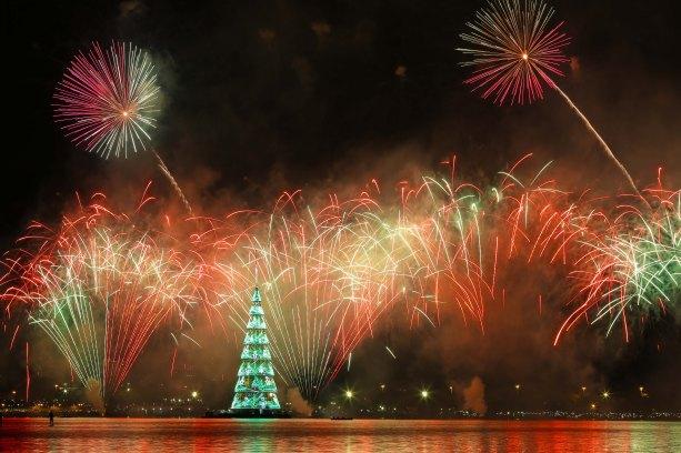 Foto da Árvore de Natal da Lagoa, Árvore do Rio Petrobras